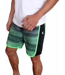 pantaloneta hurley phantom motion fast bdst in para hombre - verde