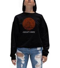 women's word art occupy mars crewneck sweatshirt