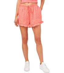 1.state printed pull-on ruffled shorts