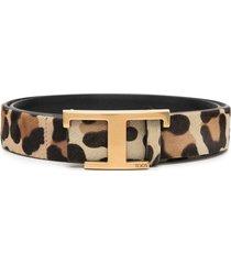 tod's timeless animal-print belt - neutrals