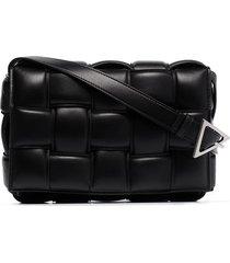 bottega veneta cassette leather shoulder bag - black