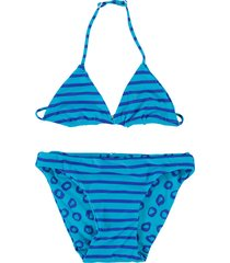 zee & zo zee & zo blauwe reversible triangle bikini china blue oranje