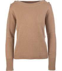 max mara dark beige woman pelota sweater