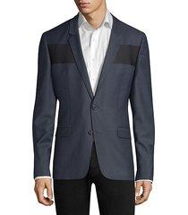 extra slim-fit ualdo wide stripe jacket