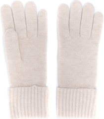 n.peal ribbed cashmere gloves - neutrals