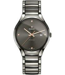 rado true automatic bracelet watch, 40mm