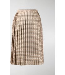 burberry pleated midi skirt