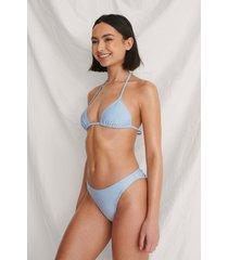 curated styles basic återvunnen bikinitrosa - blue