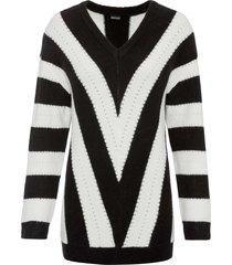 maglione oversize a fasce (nero) - bodyflirt
