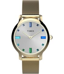 timex women's transcend gold-tone mesh band watch 31mm