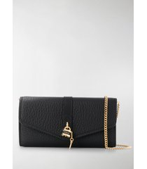 chloé aby leather clutch bag