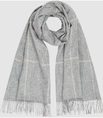 reiss polly - wool cashmere blend oversized scarf in grey, womens