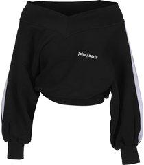 palm angels off-shoulders sweatshirt