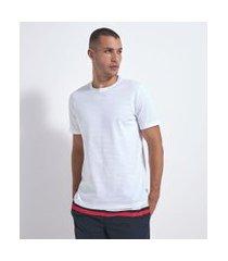 camiseta com textura algodão peruano | marfinno | branco | g