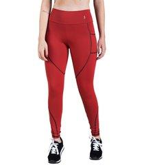 calça legging feminina surty essential team vermelha