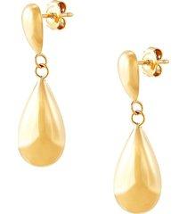 saks fifth avenue women's 14k yellow gold eggplant drop earrings