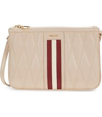 bally women's drice quilted leather crossbody bag - beige