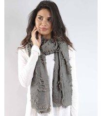 bufanda gris spiga 31 rustico - u