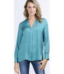 blouse van zijdemix