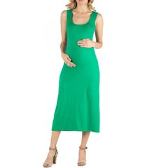 24seven comfort apparel scoop neck maternity maxi dress with racerback detail