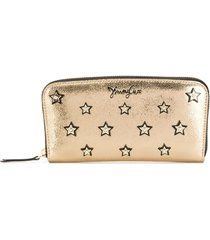 jimmy choo filipa star-studded long wallet - gold