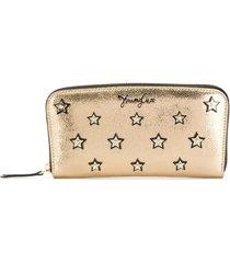 jimmy choo filipa star-studded long wallet - gold
