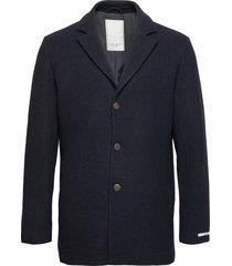 montgomery wool coat wollen jas lange jas blauw les deux