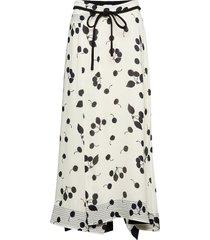 printed skirt w band knälång kjol creme 3.1 phillip lim