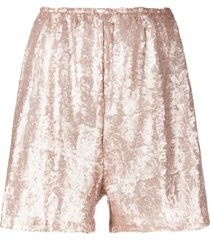 alchemy lia sequinned wide-leg shorts - gold