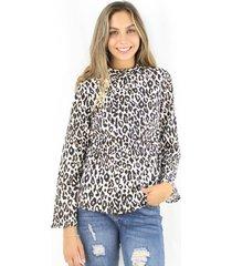 blusa paula animal print jacinta tienda