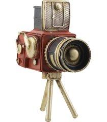 enfeite decorativo minas de presentes filmadora vermelho