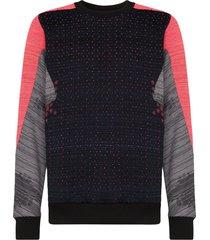 byborre panelled loose-fit sweatshirt - blue