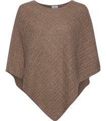 triangle cable poncho poncho regnkläder brun davida cashmere