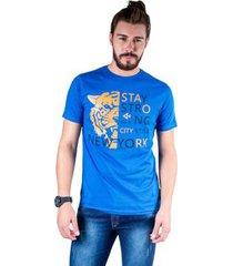 camiseta mister fish estampado stay strong ney york city masculina