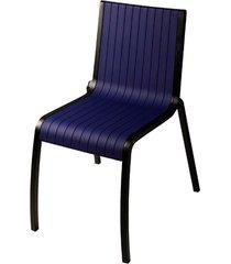 cadeira milan de pvc sem braço azul