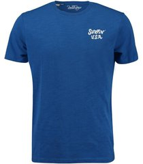 t-shirt beach print blauw