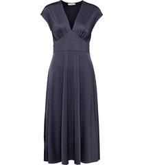 juliet knälång klänning blå mango