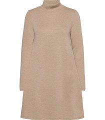 vimany l/s high neck dress/rx kort klänning beige vila