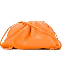 bottega veneta small drawstring clutch bag - orange