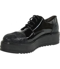 zapato punta brillante negro mailea