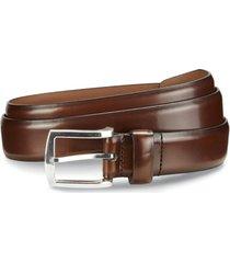 men's allen edmonds midland ave. leather belt, size 44 - coffee