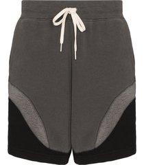 john elliott loose stitch track shorts - black