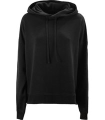maison margiela black cotton hoodie sweatshirt
