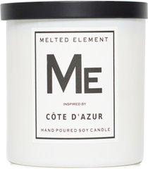 melted element cote d'azur premium soy candle, 11-oz.