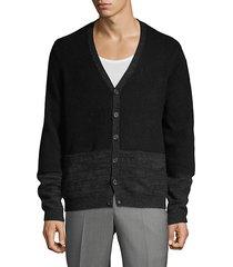 colorblock cashmere cardigan