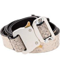 1017 alyx 9sm alyx snake print leather medium rollercaster belt