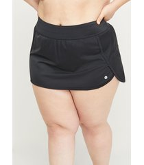 lane bryant women's cacique sport swim skirt 18 black