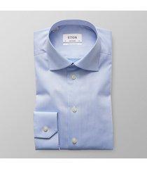 eton heren overhemd lichtblauw signature twill contemporary fit ml7