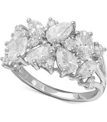 arabella swarovski zirconia cluster ring in sterling silver