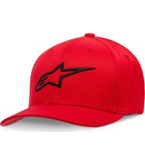 gorro ageless curve rojo/negro alpinestars